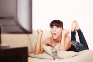 Jubel vor dem Fernseher: Das Fernsehen erfreut die Amerikaner.