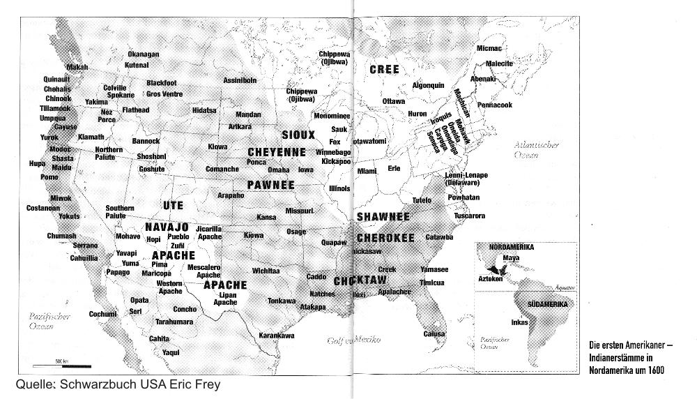 Indianer - 3,5 bis 4 Millionen leben in Nordamerika - usatipps.de