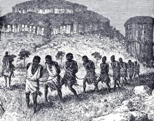Alte Zeichnungen zeigen die widerlichen Umstände, welche sich in einigen Teilen Amerikas boten.