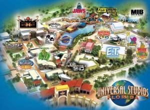 Die Karte des Parks weist auf etliche Attraktionen hin.