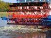 Im Jahre 1807 wurde der erste Raddampfer auf dem Mississippi in Betrieb genommen.