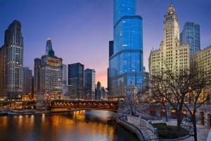 Chicago ist seit der Mitte des 19. Jahrhunderts eine wichtige Handelsstadt in den USA.