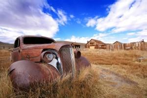Als Ghosttowns (Geisterstädte) bezeichnet man in den USA die heute noch bestehenden Reste von verlassenen Siedlungen. Hier: Bodie in Kalifornien.