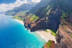 Die Na-Pali-Küste auf der Insel Kauai darf in keinem Reiseführer fehlen.