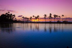 Ein touristisches Highlight: Der Sonnenuntergang auf Hawaii.
