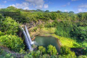 Der Wailua-Wasserfall ist rund 26 Meter hoch und befindet sich auf Kauai.