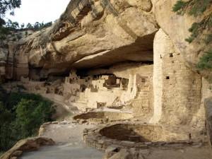Das Cliff Palace ist eine ehemalige Felsbehausung im Mesa Verde Nationalpark.
