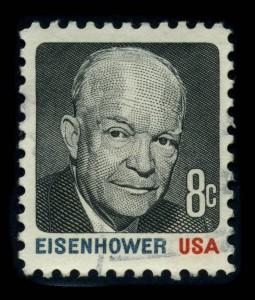 """Dwight """"Ike"""" David Eisenhower war der 34. Präsident der Vereinigten Staaten (1953–1961) und ist heutzutage sogar auf einigen Briefmarken zu sehen."""