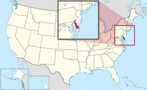 """Der Bundesstaat trägt den offiziellen Beinamen """"The First State"""", da Delaware 1787 als erster Staat der Dreizehn Kolonien die Verfassung der USA ratifizierte."""