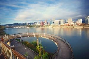 Die größte Stadt Oregons, Portland, bietet eine wunderschöne Skyline.