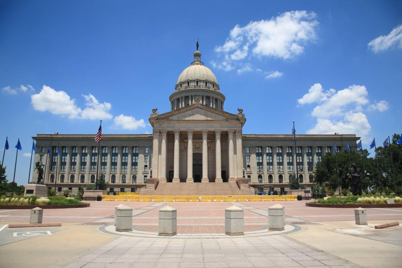 Mit knapp 580.000 Einwohnern ist Oklahoma City die größte Stadt des US-Bundesstaates Oklahoma. Schön anzusehen: Das Oklahoma City State Capitol Building.