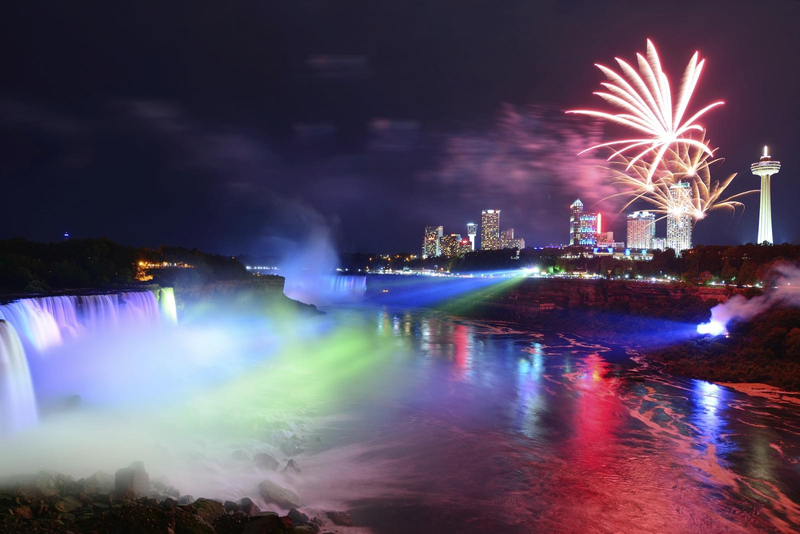 Niagaraf Lle Naturgewalt Riesiger Wassermassen