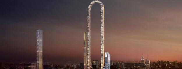 the big bend in new york meter langer wolkenkratzer. Black Bedroom Furniture Sets. Home Design Ideas