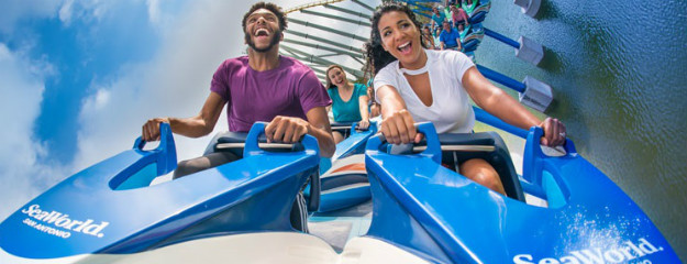 "SeaWorld San Antonio arbeitet akribisch an einem Image-Wechsel. Die neue Jet-Ski-Achterbahn ""Wave Breaker: The Rescue Coaster"" steht für das Thema Tierrettung. Foto: SeaWorld San Antonio"