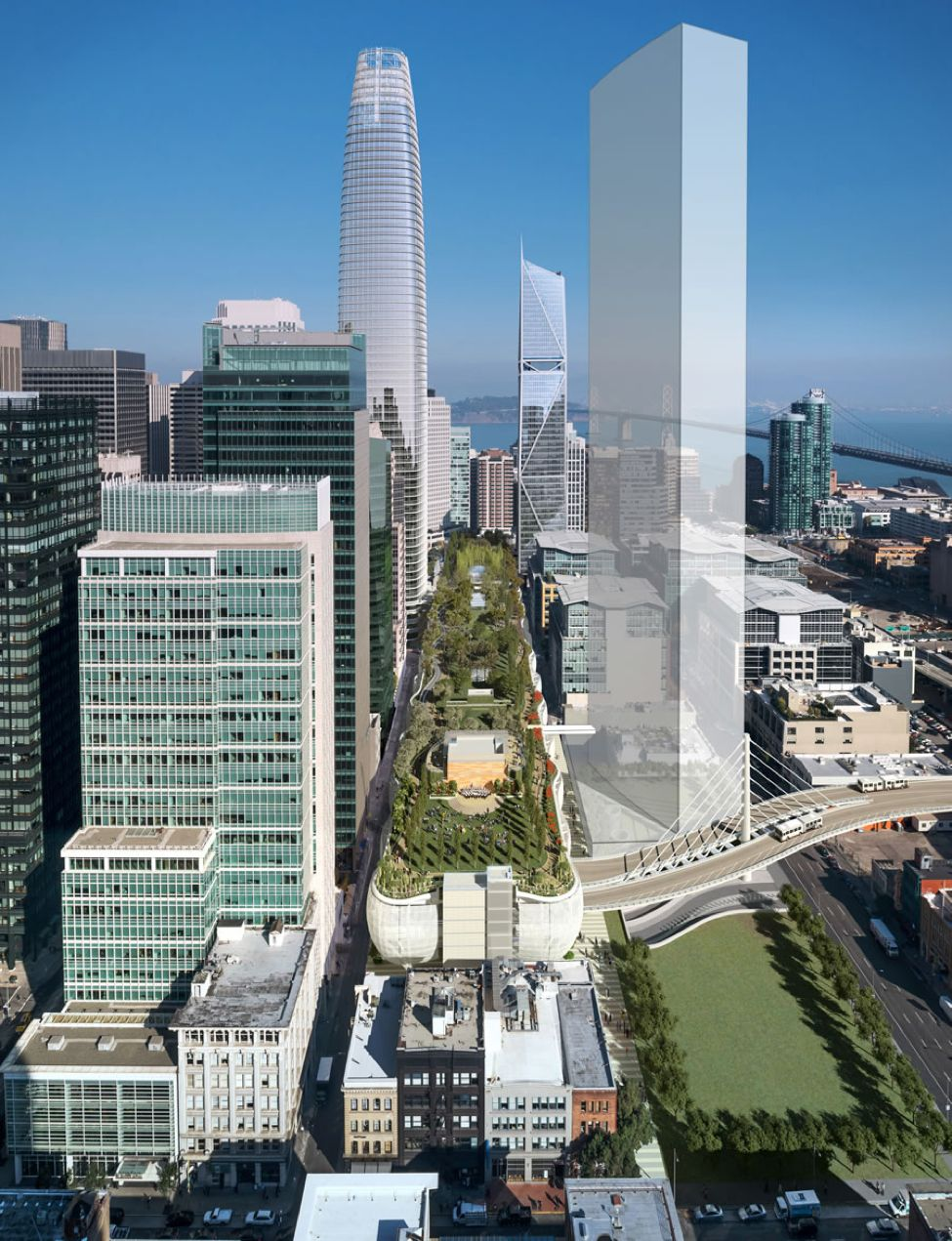 Nicht nur einmal war das Eröffnungsdatum für das Salesforce Transit Centre in San Francisco verschoben worden. Nun wurde als Eröffnungstermin der 12. August 2018 bekannt. Foto: Rendering by Pelli Clark Pelli, courtesy of the TJPA