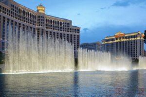 Die Wassershow The Fountains of Bellagio ist eine der beliebtesten Attraktionen der Unterhaltungsmetropole in Nevada.