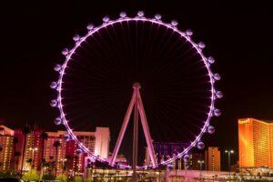 The High Roller am Las Vegas Strip ist 167 Meter hoch und damit das höchste Riesenrad der Welt.
