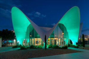 Das Neon Museum in Las Vegas ist wunderschön beleuchtet.