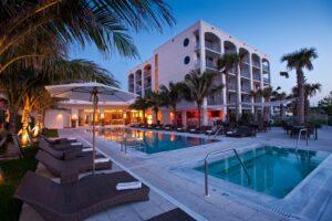 Der Außenbereich ist oftmals ein Aushängeschild der Hotels in den USA.